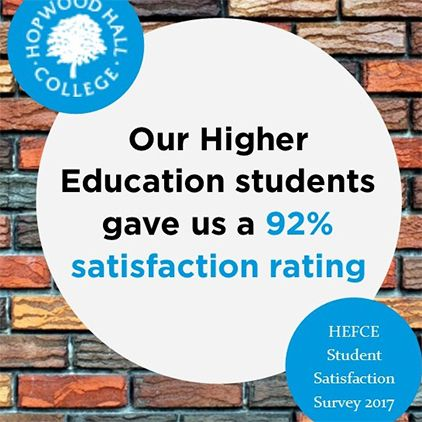 Hopwood Hall tops GM colleges in National Student Survey